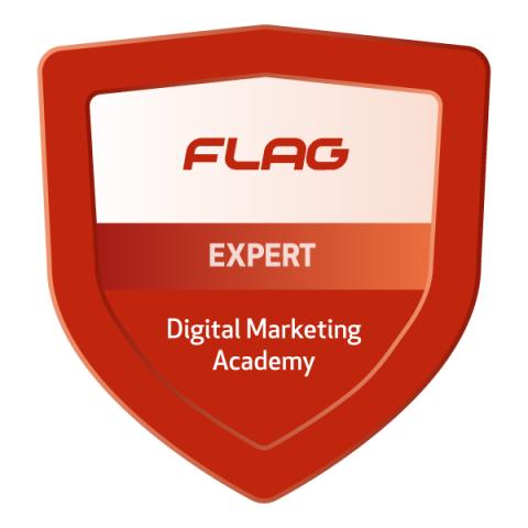 Badge FLAG Academia de Marketing Digital