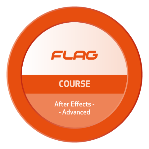Badge FLAG Curso Adobe After Effects Avancado