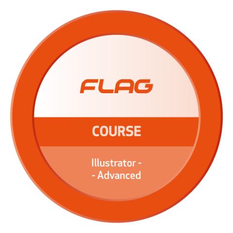 Badge FLAG Curso Adobe Illustrator Avancado