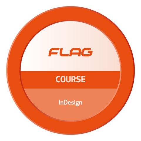 Badge FLAG Curso Adobe InDesign