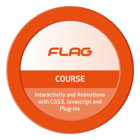 Badge FLAG Curso Interatividade e Animações com CSS3, Javascript e Plug-ins