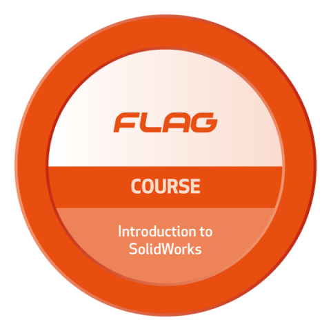 Badge FLAG Curso Introducao ao SolidWorks
