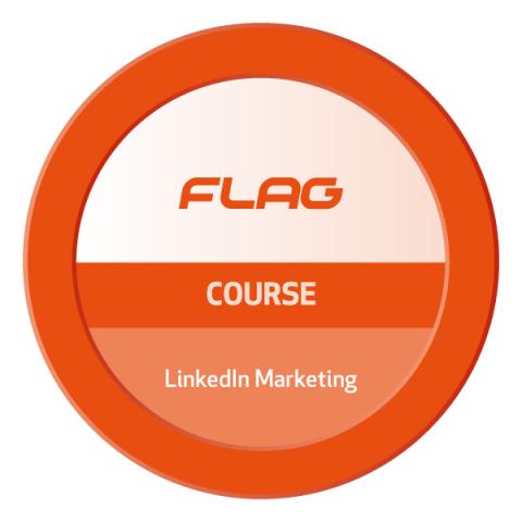Badge FLAG Curso LinkedIn Marketing