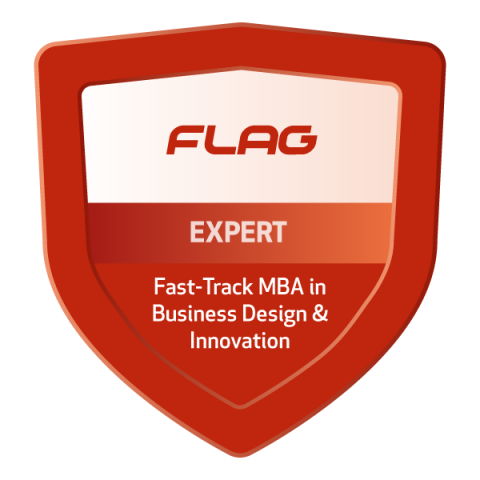 Badge FLAG Fast-Track MBA em Business Design & Innovation