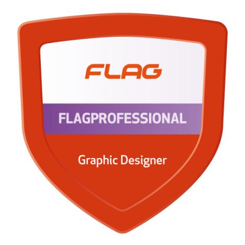 Badge FLAGProfessional Graphic Designer