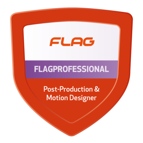 Badge FLAGProfessional Post-Production & Motion Designer