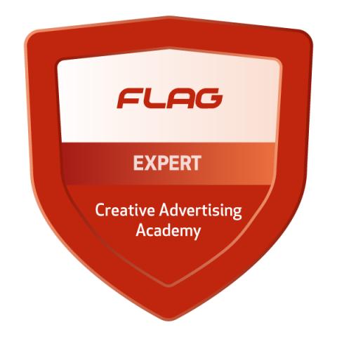 Badge FLAG Academia de Criatividade Publicitaria