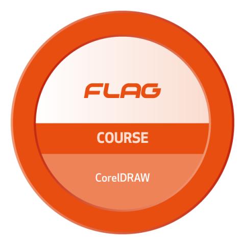 Badge FLAG Curso CorelDraw