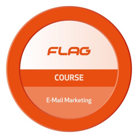 Badge FLAG Curso E-Mail Marketing