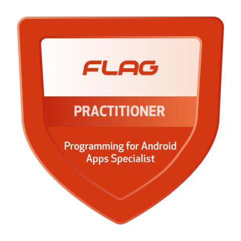 Badge FLAG Curso Especializado Programação para Android Apps
