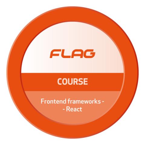 Badge FLAG Curso Frontend frameworks – React