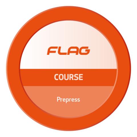 Badge FLAG Curso Pré-Impressão