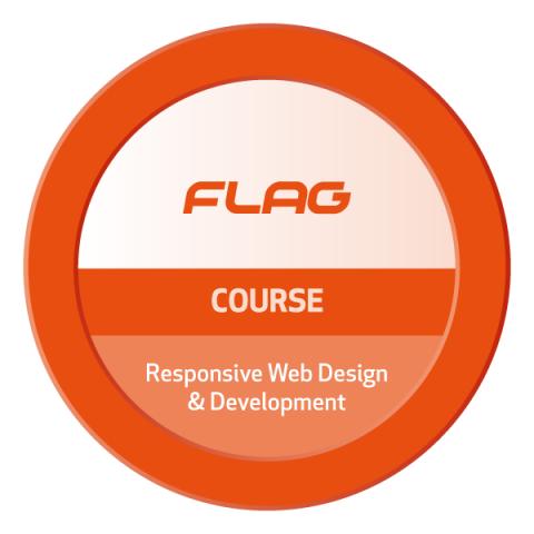 Badge FLAG Curso Responsive Web Design & Development