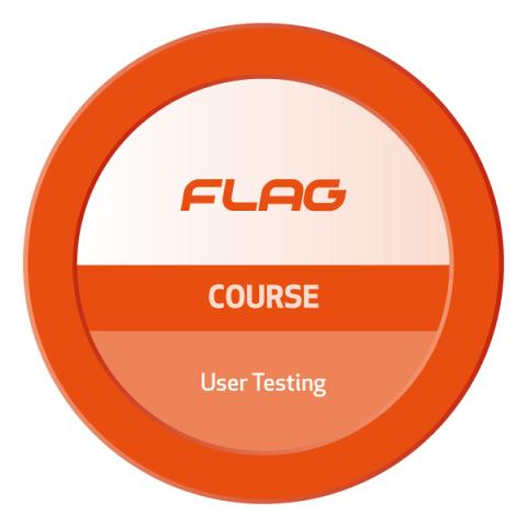 Badge FLAG Curso User Testing