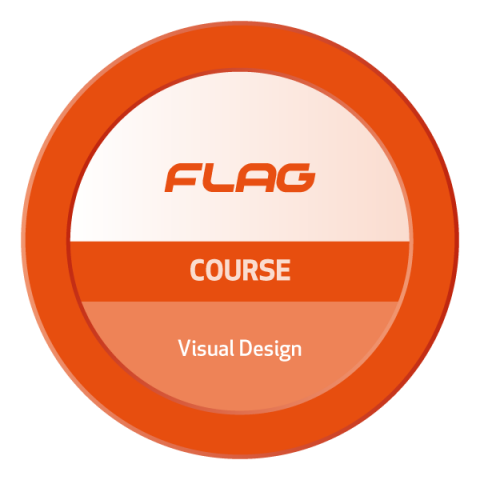 Badge FLAG Curso Visual Design